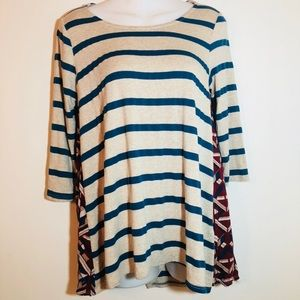 PUELLA pattern play swing tunic top blue stripped